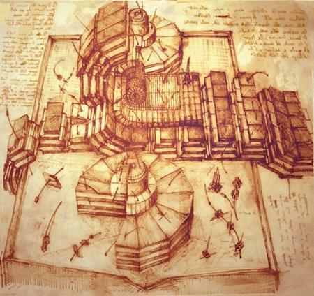 El LHC diseñado por Leonardo da Vinci