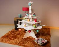Árbol de Navidad de cartón para decorar con los peques