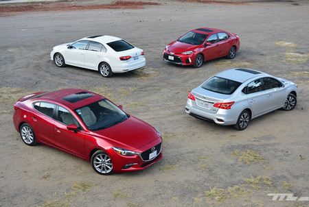 Comparativa: Mazda3 vs. Nissan Sentra vs. Toyota Corolla vs. Volkswagen Jetta (IV)