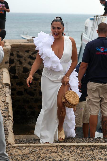Amor Romeira en la boda de Anabel Pantoja y Omar el Negro
