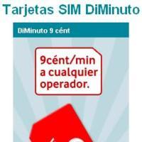 Diminuto 9 de Vodafone: nueva tarifa de 9 céntimos minuto y SMS