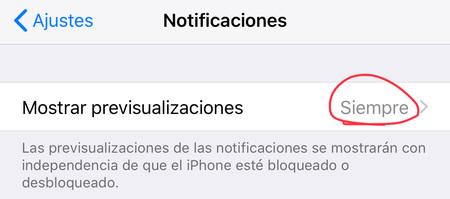 previsualización iOS