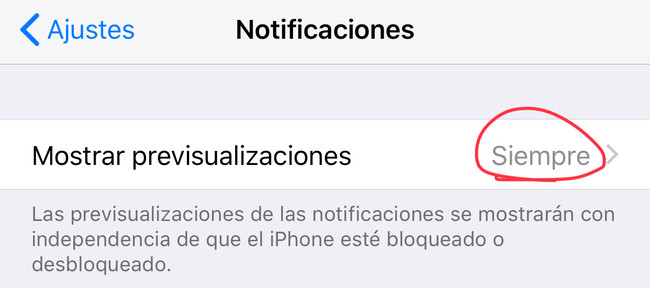 previsualización iOS™