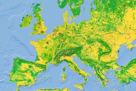 Bosques, cultivos, ciudades: las distintas superficies que cubren los continentes, en mapas