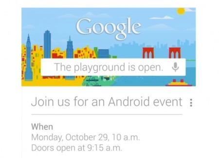 Evento Google el 29 de octubre, ¿nuevo Nexus?