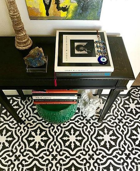 3 Diy Custom Floor Tiles Painting Stencils Boho Glam Room Makeover