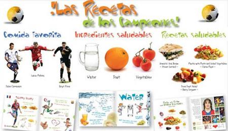 """""""Las recetas de los campeones"""", un libro para combatir la obesidad infantil"""