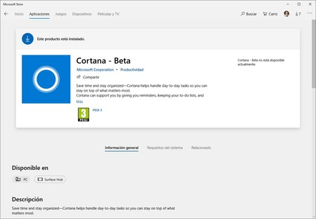 Cortana Windows Store