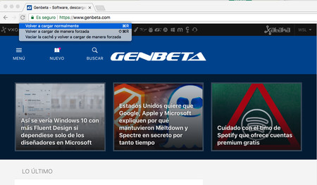 Cómo funciona y para qué sirve la recarga forzada de páginas en Chrome