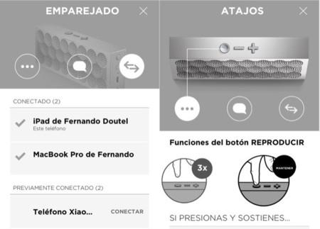 Configuración de los botones y dispositivos emparejados