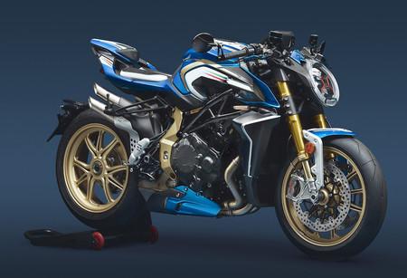 MV Agusta Brutale 1000 RR Blue & White: una moto única con 208 CV para un fanático del fútbol italiano