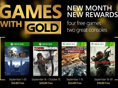 Crysis 3 y Tomb Raider: Definitive Edition lideran los Games With Gold de septiembre
