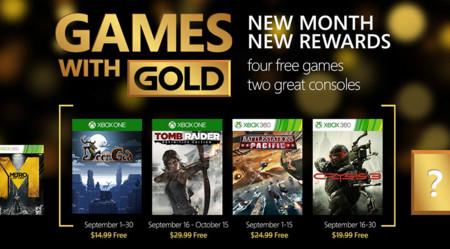 Crysis 3 y Tomb Raider: Definitive Edition lideran los Games With Gold de septiembre