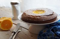 Torta de naranja y harina de maíz. Receta