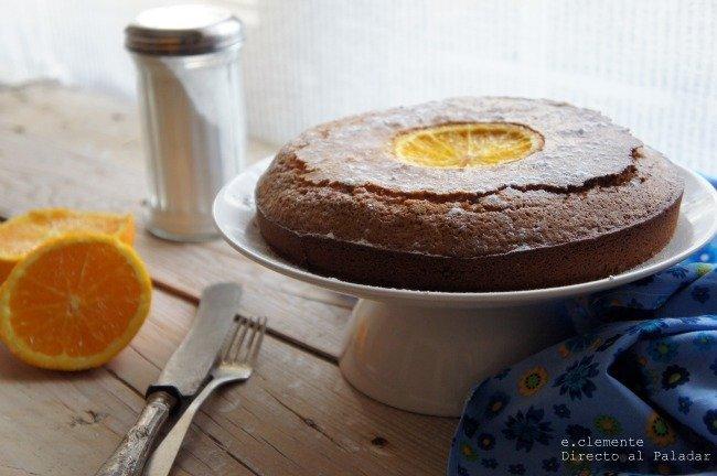 Torta de naranja y harina de maíz
