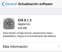 Apple libera sus actualizaciones para iOS 8.1.3 y OS X Yosemite 10.10.2