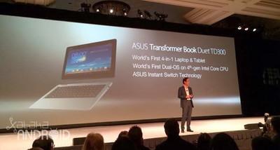 Asus Transformer Duet TD300 con Windows 8.1 y Android