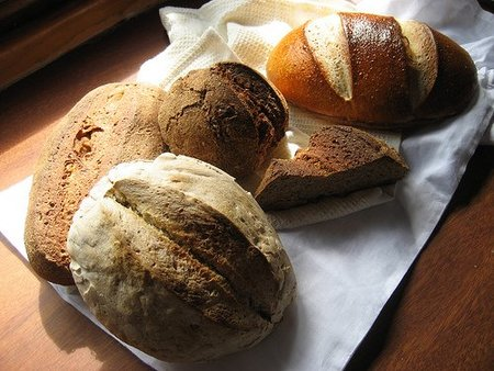 Pan con sal yodada