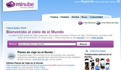 Minube evoluciona hacia una red social de viajes
