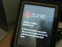 Actualización del firmware del Zune a la versión 1.2