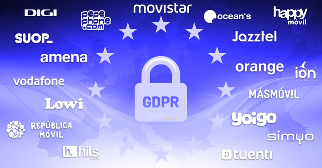 Así se han adaptado Movistar, Masmóvil, Vodafone Orange y Yoigo al nuevo RGPD