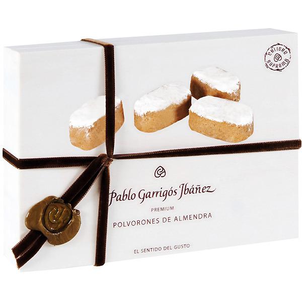 Polvorones de almendra premium Pablo Garrigós Ibáñez, caja de 200 g.