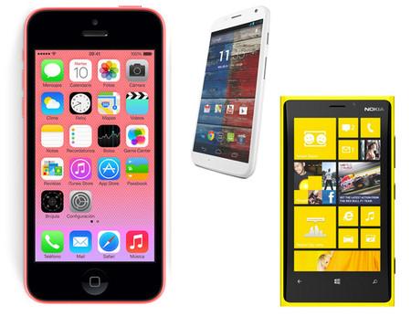iPhone 5C contra sus competidores