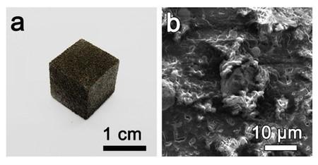 Se produce la primera espuma de grafeno impresa en 3D