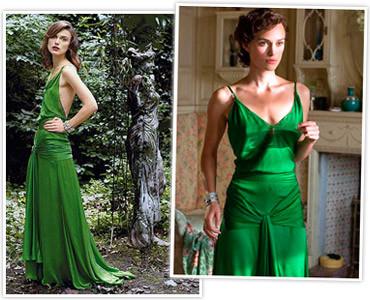 Vestidos de película: Keira Knightley en Atonement