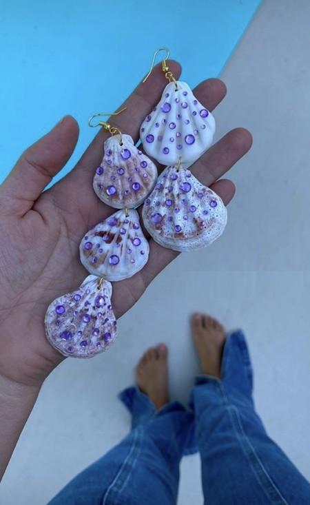 pendientes conchas salitre