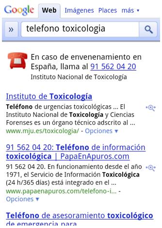 """Google Search te pone a un """"click"""" las llamadas de emergencias"""
