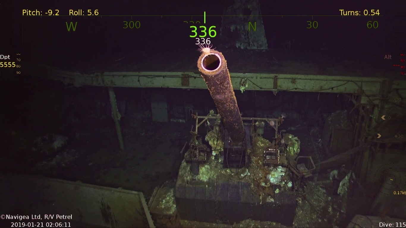 Así es como un pequeño barco de 10 tripulantes, robots y drones autónomos encontró un portaaviones que se hundió hace 76 años