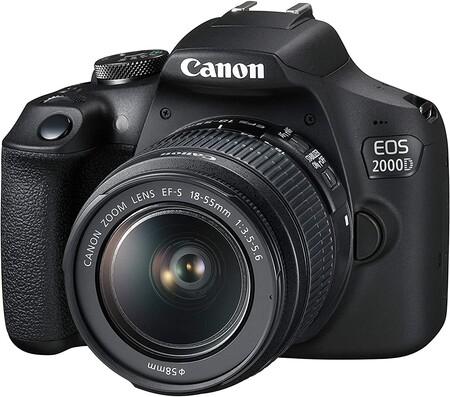 Canon EOS 2000D + EF-S 18-55mm f/3.5-5.6 III Juego de cámara SLR 24,1 MP CMOS 6000 x 4000 Pixeles Negro - Cámara digital (24,1 MP, 6000 x 4000...