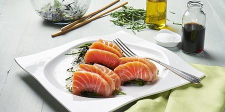 Sashimi Salmon Con Ensalada De Lagas Y Salicornia Web