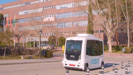 Microbus autónomo y eléctrico de la Universidad Autonoma de Madrid (UAM)