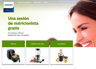 Sesión de nutricionista gratis con la compra de productos Philips