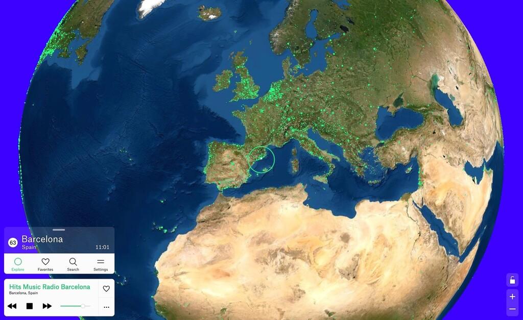 Radio Garden: un genial mapa interactivo para viajar por el mundo a través de las radios locales
