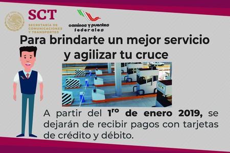 Ya no podrás pagar las casetas de CAPUFE con tarjeta de débito o crédito a partir del 1º de enero