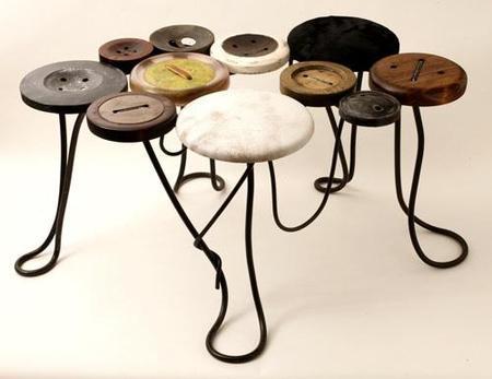 Muebles inspirados en botones