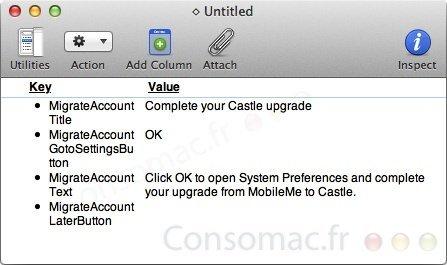 Localizado el nombre 'Castle' en las preferencias de Mac OS X Lion