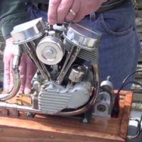 Motor Harley-Davidson Panhead a escala 2/5