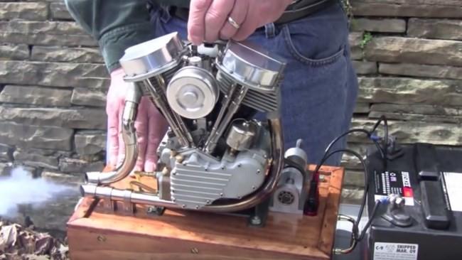 Motor H-D a escala