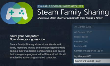 Llega Steam Family Sharing, comparte copias digitales de tus videojuegos con amigos