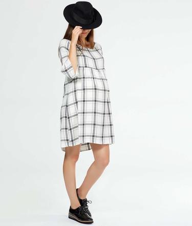 Cinco vestidos premamá 100% otoñales (y muy femeninos)