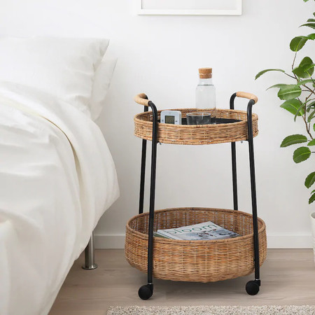 Lubban Serving Cart With Storage Rattan Anthracite 0835708 Pe719507 S5 1