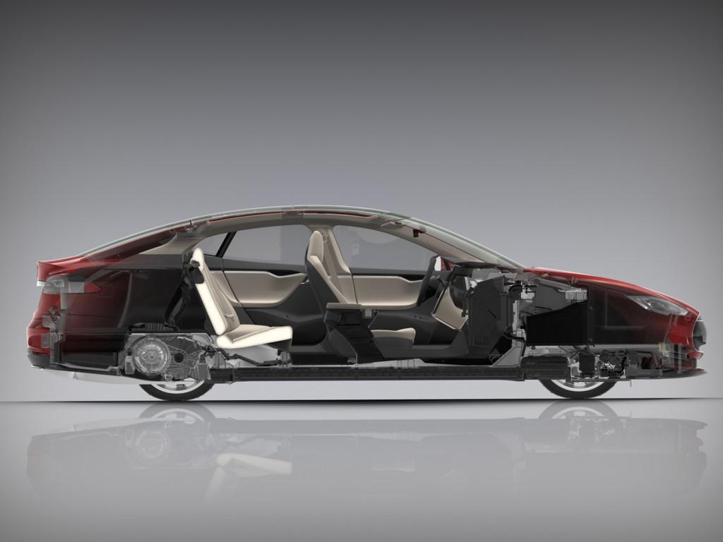 Tesla Model S corte