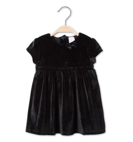 Vestido Terciopelo Negro Bebe