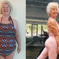 De padecer artrosis y colesterol a perder 25 kilos y convertirse en la abuela culturista de Instagram