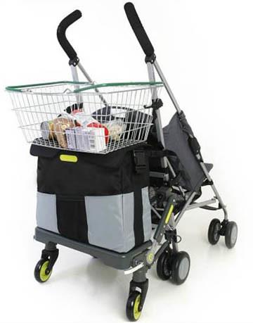 Carrito del bebé y de la compra: dos en uno