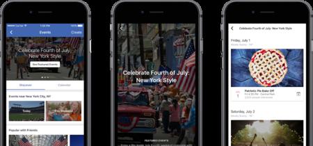 Facebook experimenta en Estados Unidos con nuevas listas de eventos seleccionados a mano